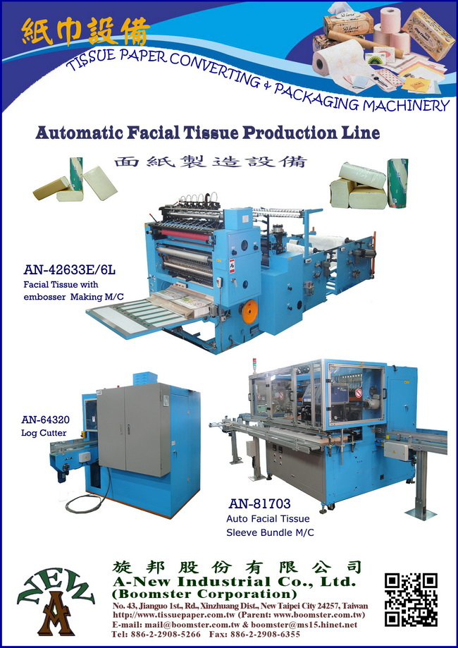 Log Cutting Machine for Facial Tissue (AN-64320)